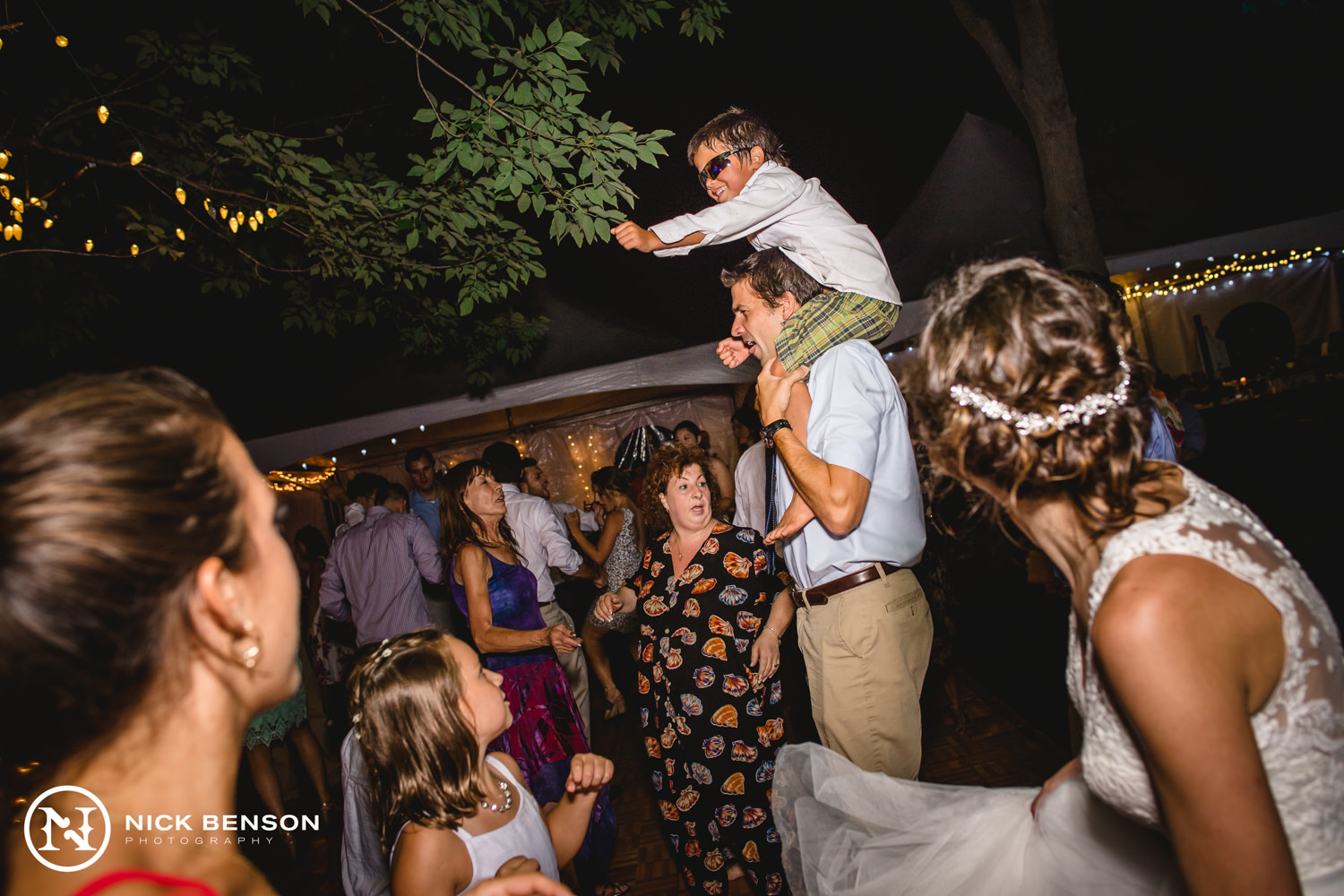 fun wedding reception, backyard wedding
