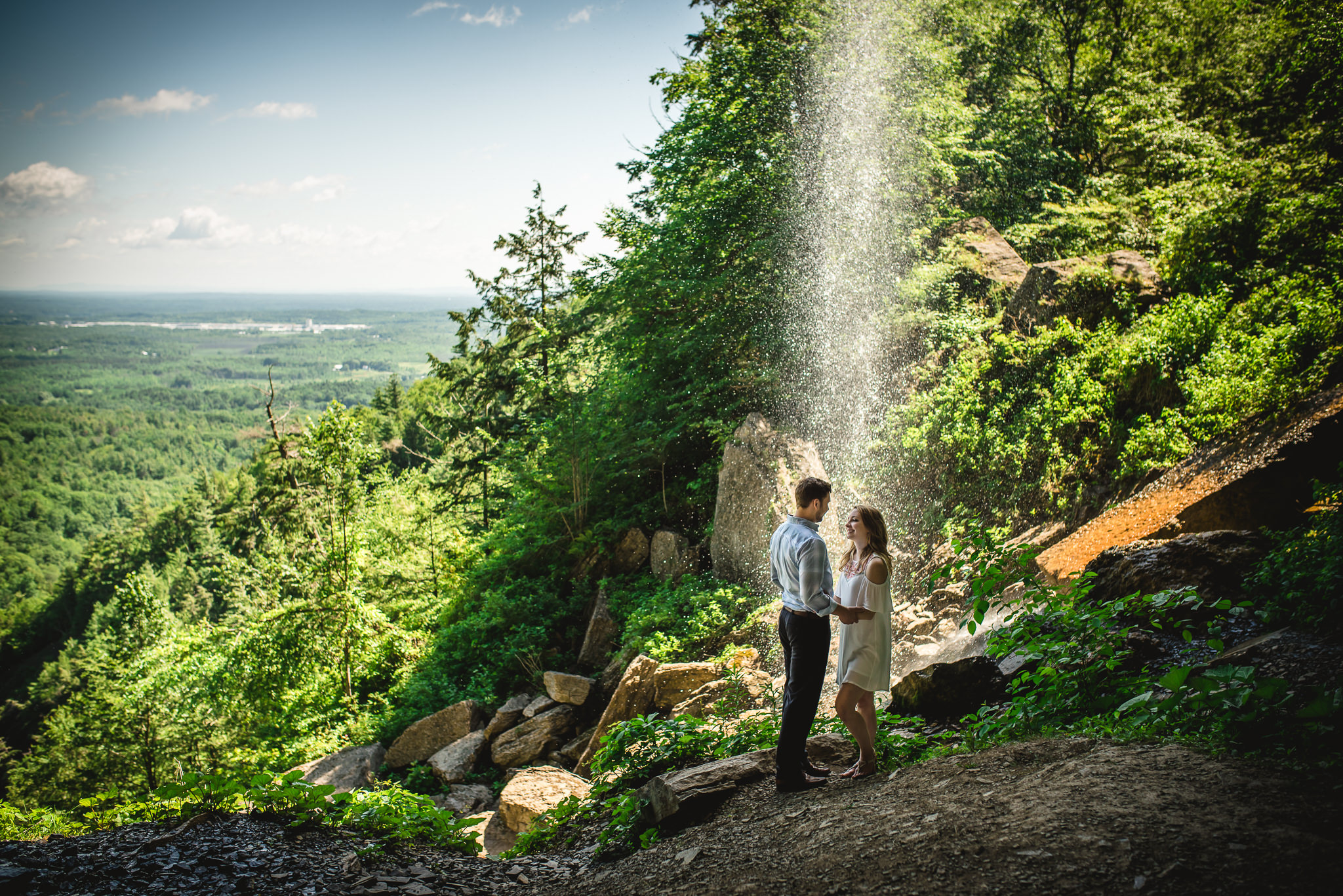 engagement, waterfall, State Park, Nick Benson Photography