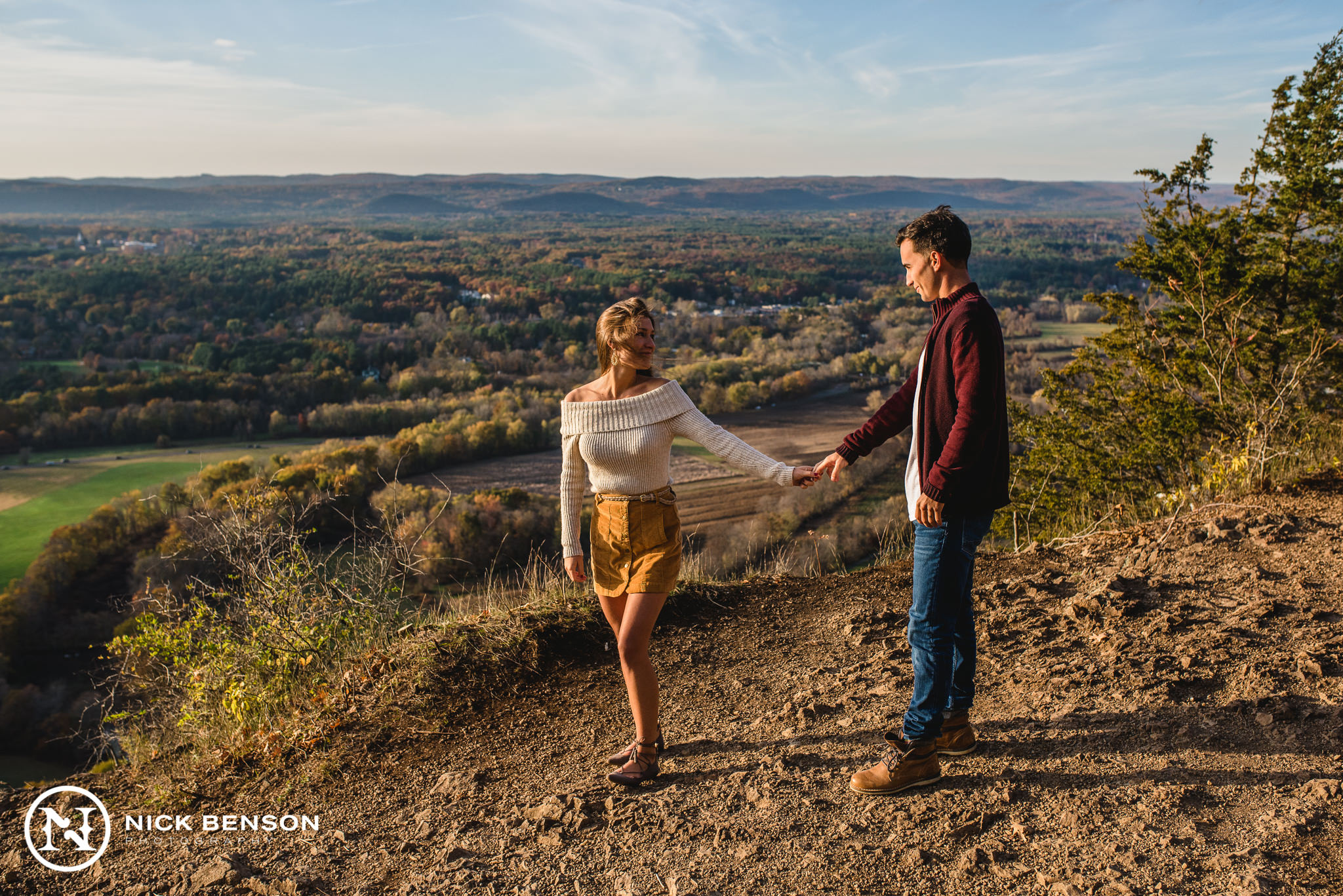 Talcott Mountain Engagement Session, Nick Benson Photography