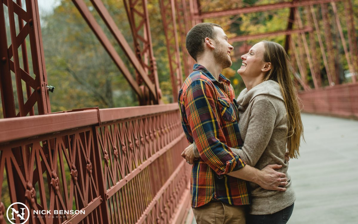 Waiting for the Storm to Pass: Lovers Leap State Park Engagement Session